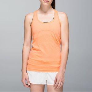Lululemon | Run Swiftly Orange Racerback Tank Top